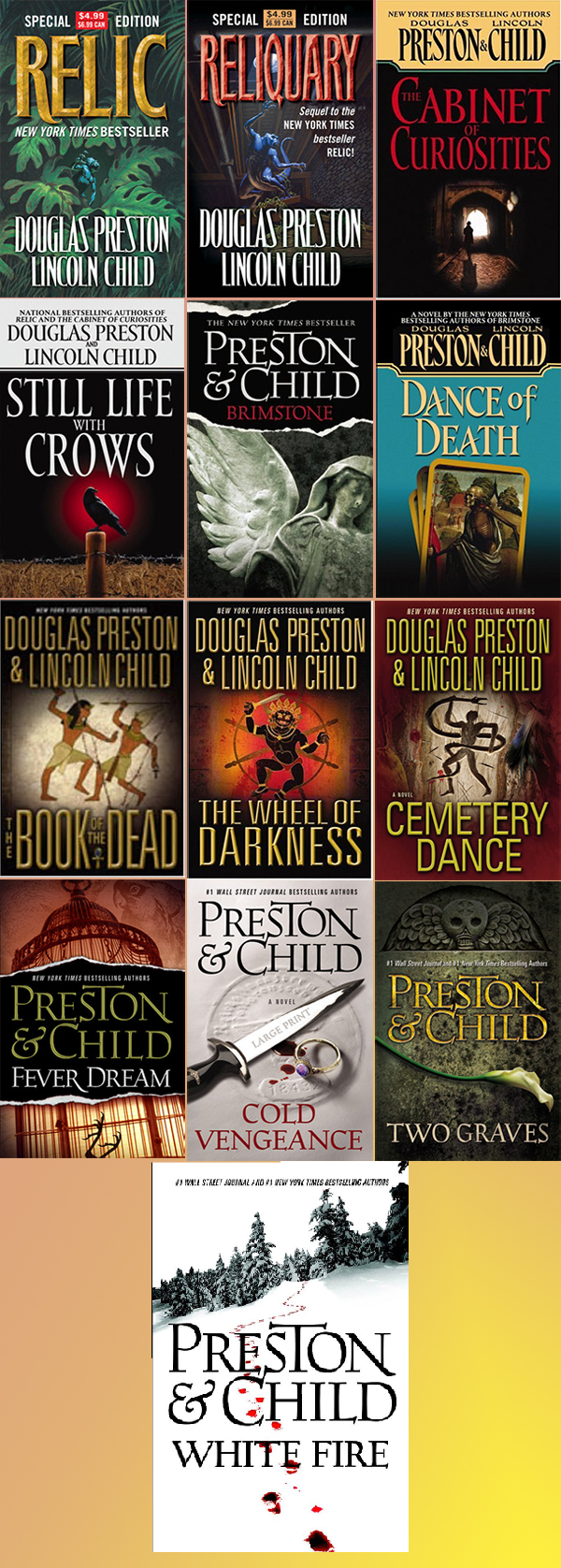 pendergast order books novels preston child douglas lincoln series mystery reading agent mysterysequels horror movie aloysius characters character read newest